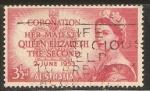 Sellos de Oceania - Australia -  CORONACIÒN   DE   LA   REINA   ELIZABETH   II