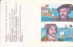 Stamps : Europe : Spain :  carné- V CENTENARIO DEL DESCUBRIMIENTO DE AMÉRICA 1492-1992- venta  (6)