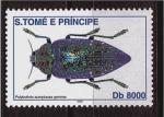 Sellos de Africa - Santo Tomé y Principe -  serie insectos