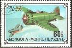 Sellos de Asia - Mongolia -  AEROPLANO