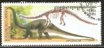 Stamps Cambodia -  ANIMALES  PREHISTÒRICOS.  DIPLODOCUS