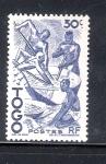 Sellos de Africa - Togo -  Extracción del aceite de palma.