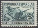 Sellos de Europa - España -  ESPAÑA 794 HOMENAJE AL EJERCITO POPULAR