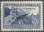 Stamps Spain -  ESPAÑA 796 HOMENAJE AL EJERCITO POPULAR