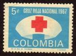 Stamps Colombia -  Cruz Roja