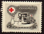 Stamps : America : Colombia :  Cruz Roja