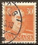 Sellos de Europa - Dinamarca -  El rey Christian X.