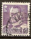 Sellos de Europa - Dinamarca -  El rey Federico IX.