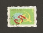 Sellos de Asia - Vietnam -  Hoz y Martillo