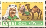 Stamps United Arab Emirates -  WORLD  BOY  SCOUT  JAMBOREE.  BOY  SCOUT  Y  CAMELLOS.