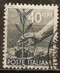 Sellos del Mundo : Europa : Italia :  Plantar un árbol joven.