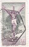 Stamps Spain -  Iglesia del Crucifijo (Puente de la Reina-Navarra-AÑO SANTO COMPOSTELANO (6)