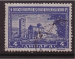 Sellos de Europa - Serbia -  serie- iglesias