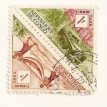 Stamps Africa - Republic of the Congo -  Transporte litera y land rover