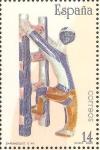 Stamps Spain -  CERÀMICA   ESPAÑOLA.  FIGURA  ABSTRACTA.  SARGADELOS  SIGLO  XX.  GALICIA.