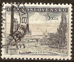 Sellos del Mundo : Europa : Checoslovaquia : Puente de Carlos, Praga.