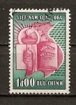 Sellos de Asia - Vietnam -  Antorcha,Mapa y Constitucion.