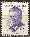Sellos de Europa - Checoslovaquia -  Presidente Novotny.