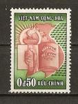 Stamps Vietnam -  Antorcha,Mapa y Constitucion.