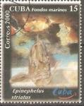 Sellos de America - Cuba -  VIDA  MARINA.  EPINEPHELUS  STRIATUS.