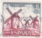 Sellos de Europa - España -  Turismo- Molinos de La Mancha (Ciudad Real)    (6)