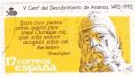 Stamps Spain -  V CENTENARIO DEL DESCUBRIMIENTO DE AMÉRICA 1492-1992 (6)