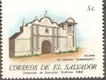Sellos de America - El Salvador -  IGLESIAS  COLONIALES.  IGLESIA  DE  CALUCO.  SONSONATE.