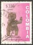 Stamps : America : Colombia :  563 - Cerámica Precolombina, Cultura Tumaco