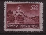 Stamps Croatia -  castillo