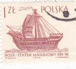 Sellos de Europa - Polonia -  Carabela
