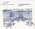 Stamps : Europe : Poland :  Paisaje marítimo.