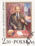 Stamps Poland -  PINTURA DE LENIN