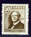 Sellos del Mundo : Europa : España : Centenario del Ferrocarril. Marques de Salamanca