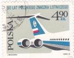 Stamps Poland -  50 AÑOS DE LA AVIACIÓN CIVIL POLACA