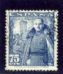 Stamps Spain -  General Franco y Castillo de la Mota