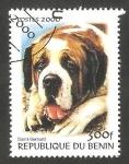Stamps : Africa : Benin :  Perro de raza, San Bernardo