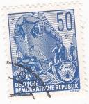 Stamps Germany -  BOTADURA DE UN BARCO