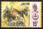 Sellos del Mundo : Asia : Malasia : Mariposas (Delias ninus).