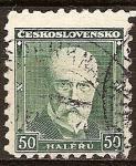 Sellos del Mundo : Europa : Checoslovaquia : Tomáš Garrigue Masaryk,1850-1937 ( político , sociólogo y filósofo).