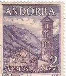 Sellos de Europa - Andorra -  IGLESIA DE SANTA COLOMA