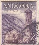 Stamps Andorra -  IGLESIA DE SANTA COLOMA