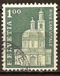 Sellos del Mundo : Europa : Suiza : Iglesia de S. Croce en Riva San Vitale
