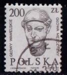 Sellos de Europa - Polonia -  Cabezas esculpidas del castillo de Wawel
