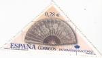 Stamps Spain -  PATRIMONIO NACIONAL- Abanico  (7)