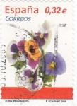 Stamps Spain -  FLORA- Pensamiento    (7)
