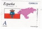 Sellos de Europa - España -  CANTABRIA- Mapa y Bandera (7)