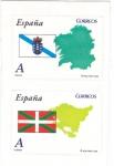 Sellos de Europa - España -  GALICIA y EUSKADI- Mapas y Banderas (7)
