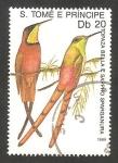 Sellos de Africa - Santo Tomé y Principe -  Aves