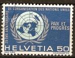 Stamps Switzerland -  25 Aniv de la Organización de las Naciones Unidas.