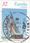 Stamps Spain -  BERGANTÍN ESPAÑOL S. XIX   (7)